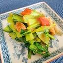 ベーコンと小松菜のガーリック炒め