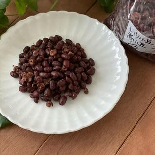 炒り小豆からの煮あずき