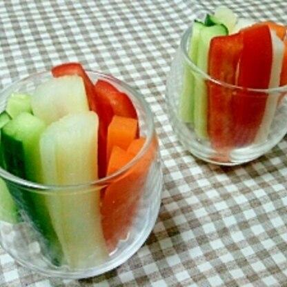 カラフル❤いろいろ野菜のスティックピクルス