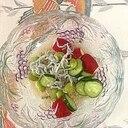 枝豆。しらす、胡瓜、ラディッシュの和え物