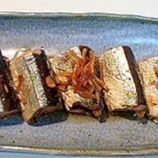 魚の臭いとりもフライパンで♪さんまの生姜煮