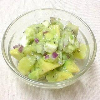アボカドとキウイフルーツのデリ風サラダ