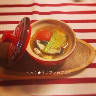 タバスコで作る☆酸辣湯