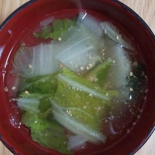 白菜とごまのコンソメスープ