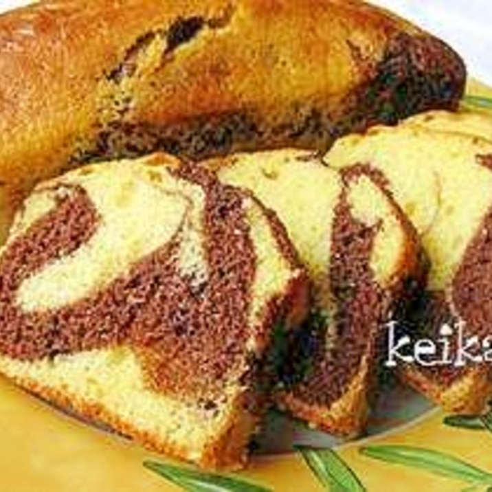 ホットケーキミックスで簡単マーブルケーキ