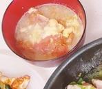 卵とトマトの中華スープ