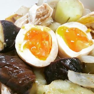 茄子とキュウリのトムヤムクン風煮込み