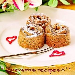 HMとレンジで超簡単2分♡可愛いプチチョコケーキ
