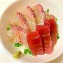 小ねぎたっぷり ☆ かんぱちとまぐろの海鮮丼