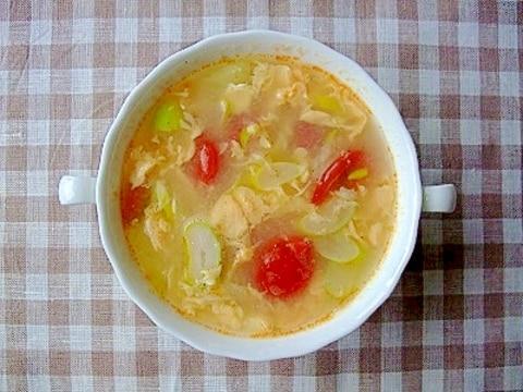 ホエーで! 1人分サンラータン風スープ