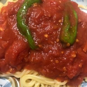 カプリチョーザ風☆トマトとにんにくのスパゲティ