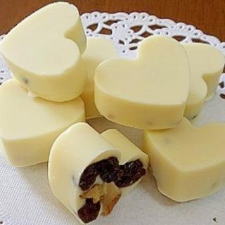 ☆ ハートの型抜きチョコレート(ホワイト)☆