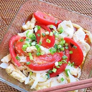 レンジで簡単!鶏むね肉のトマト南蛮漬け