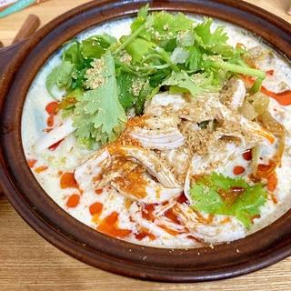 優しいお味♡豆漿鶏湯麺