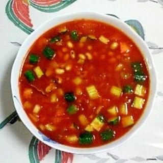大豆と野菜の冷製ミネストローネ~♪