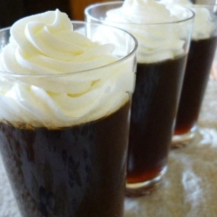 寒天で作るコーヒーゼリー