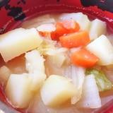 ジャガイモ&ニンジン&白菜の味噌汁