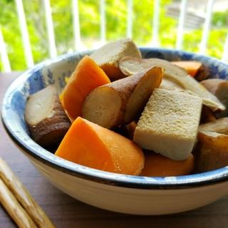 【独居自炊】糠漬け高野豆腐を使った根菜の煮物