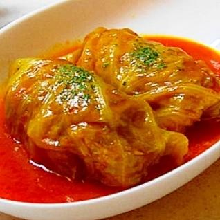 絶品トマト野菜ジュースのロールキャベツ