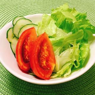 フレッシュ野菜サラダ✧˖°にんにくドレッシング♡