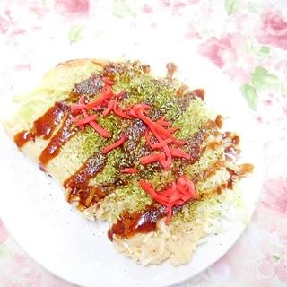 米粉でもっちり❤キャベツのお好み焼き風❤
