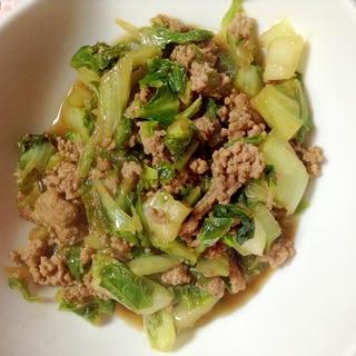 合挽き肉と白菜のオイスターソース炒め♡