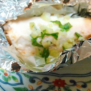 鮭のホイル焼き☆ホワイトソース