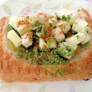 青汁マーマレード林檎トースト