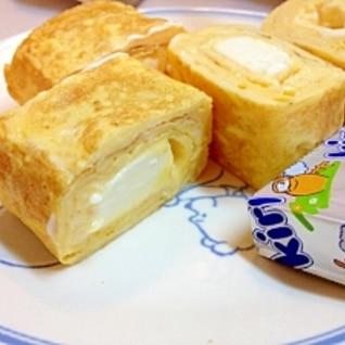 お弁当に、クリームチーズ入り卵焼き