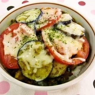 夏野菜たっぷりドライカレードリア