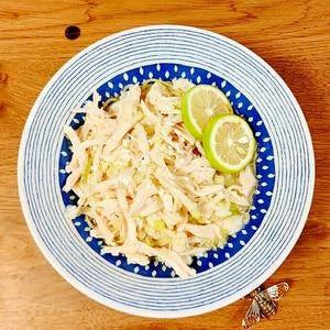 サッポロ一番偏愛☆サラダチキンネギ塩のせ