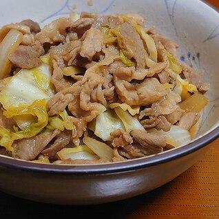 新玉ねぎ・キャベツ・豚こまの 味噌炒め