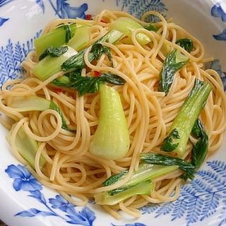 簡単!チンゲン菜のペペロンチーノ