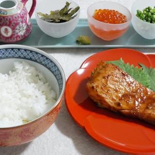 北海道と名古屋風コラボ秋鮭の赤味噌焼き★ひつまぶし