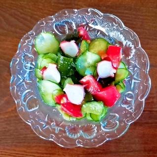 カンタン酢で☆胡瓜とトマトとタコの酢の物