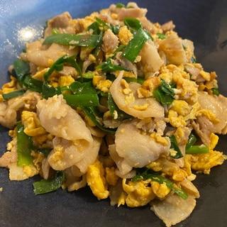 簡単!豚肉と卵とニラの中華風炒め