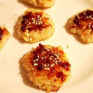 ダイエッタァ~のおやつに♪ 豆腐とご飯で五平餅風