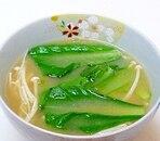 小松菜とえのきだけのみそ汁