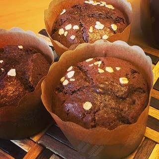 簡単チョコブラウニー風カップケーキ