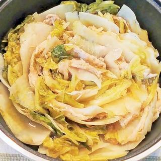 ♪豚肉,白菜,大根のミルフィーユ蒸し鍋♪