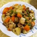 鶏エリンギ根菜の炒り煮