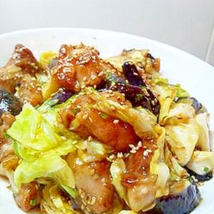 茄子と鶏肉のオイスター炒め