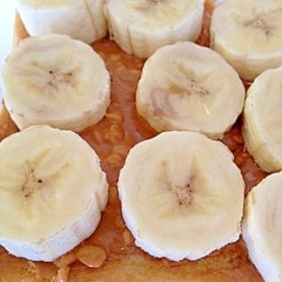 トースト+ピーナツバター+バナナ☆これもまた美味♪