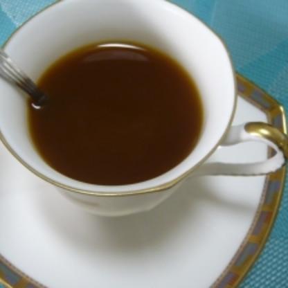こんばんは・・・・・インパクトがあって美味しいコーヒーごちそうさまでした。レシピありがとうございました(#^.^#)