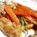 野菜タップリごぼうの豚バラ肉巻