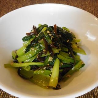 小松菜とキクラゲのナムル