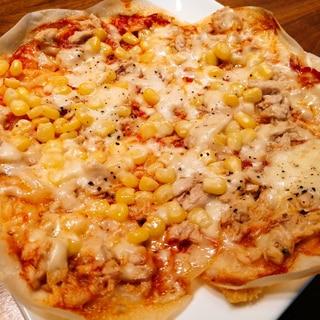 おつまみに♪餃子の皮でピザ