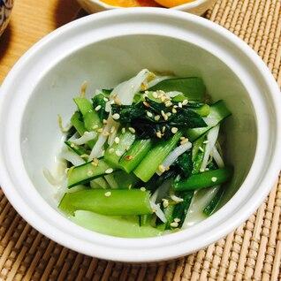 簡単♪小松菜ともやしの中華炒め