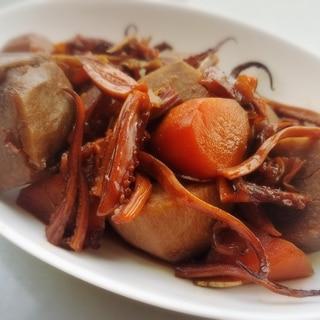 スルメで簡単♪ 里芋とイカの甘辛煮★