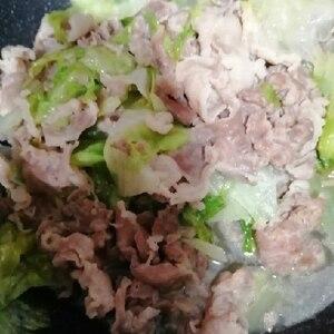レタスの大量消費に!初夏の豚こまとレタスの塩炒め♪